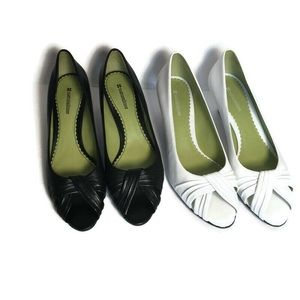 Naturalizer peep toe pumps size 10- shoe Lot x 2